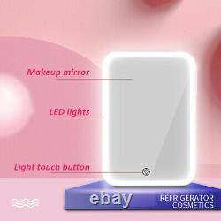 Portable 8L Beauty Cosmetic Fridge LED Makeup Mirror Door Mini Skincare Cooler