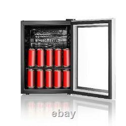RCA 70 Can Beverage Wine Cooler Mini Refrigerator Fridge Door Soda Beer Glass