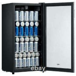Refrigerator Mini Beer Beverage Wine Soda Fridge Glass Door 115 Can Drink Cooler
