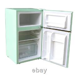 Retro 3.2 Cu. Ft. 2-Door Mini Fridge In Mint Green Compact Refrigerator Freezer