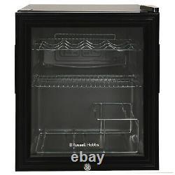 Russell Hobbs RHGWC1B-C-LCK 46L Black Glass Door Wine Cooler with Lockable Door