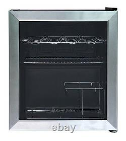 Russell Hobbs RHGWC3SS 47L Glass Door Wine Cooler Stainless Steel Refurbished A+