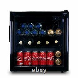 SIA 50L Table Top Mini Drinks Beer & Wine Fridge Cooler With Glass Door