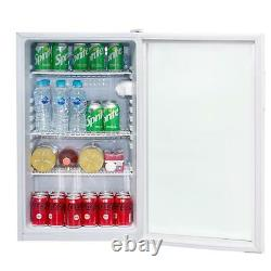 SIA DC1WH 118L Under Counter Drinks Fridge, Beer And Wine Cooler With Glass Door