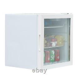 SIA DC2WH 50L White Table Top Mini Drinks, Beer & Wine Fridge Cooler, Glass Door