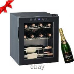 SMAD 46L Beer, Wine&Drinks Mini Fridge Led Compressor Cooling Glass Door Chiller