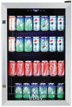 SMAD 98L Undercounter Drinks Fridge Glass Door Wine & Beverage Cooler