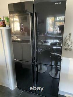 SMEG FQ60NPE 92cm 4 Door American Fridge Freezer Gloss Black RRP £2200.00