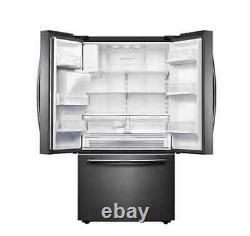 Samsung 665L French Door Fridge Refrigerator Black Stainless SRF665CDBLS
