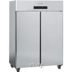 Smeg Double Door Commercial Freezer Stainless Steel