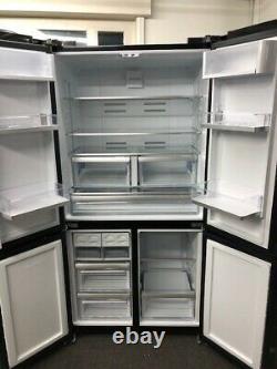 Smeg FQ60N2PE1 4-Door American-Style Freestanding Fridge Freezer In Black