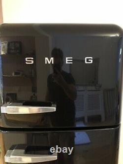 Smeg Fridge Freezer FAB30 In Black New Door Seal Needed