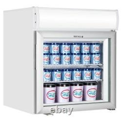Tefcold UF50GCP-P + Canopy Glass Door White Display Freezer (Boxed New)