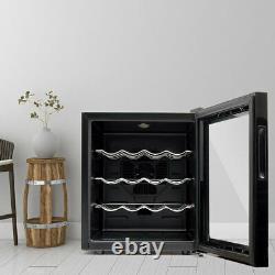 Under Counter Drinks Fridge, 12/16 Bottles Beer And Wine Cooler With Glass Door