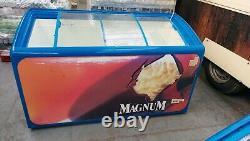 Used ice cream display freezer / sliding door ice lolly display freezer