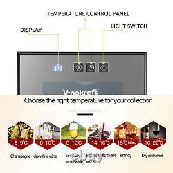 Vinekraft 33L Table Top Beer Wine Cooler Mini Drinks Fridge Glass Door with LED