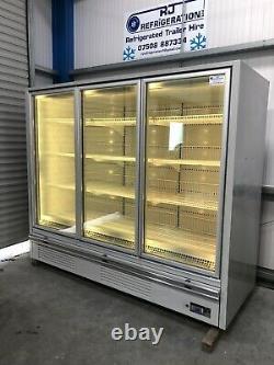 2.2m Deep Verco 3 Portes Écran Congélateur Surgelé Magasin Commercial De Restauration Ice