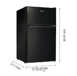 3,1 Cu Ft Mini Réfrigérateur À Deux Portes Avec Congélateur Estar, Noir