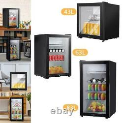 43l/63l/83l Mini Réfrigérateur Verre Bureau De Bureau Refroidisseur Ice Box Congélateur Cuisine