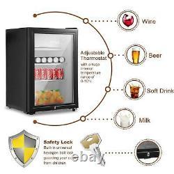 43l/63l/83l Réfrigérateur Porte En Verre Réfrigérateur Tabletop Cooler Bedroom Home Office