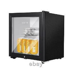 43l Bureau Mini Réfrigérateur Boissons Chiller Porte En Verre Réfrigérateur Noir Shop