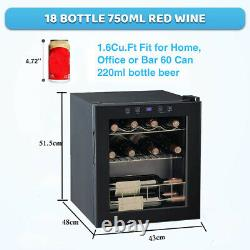 46l Refroidisseur De Vin Porte En Verre Petite Boisson Bière De Soude Rouge/blanc Vin Champag Réfrigérateur