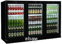 Bb3h Man Cave Articulé 3 Porte Bar Beer Bottle Cooler Fridge Gratuit Next Day Livraison