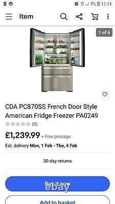 Cda Pc870ss Français Door Style American Fridge Freezer Pa0249 Lire Discription