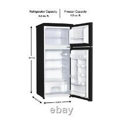 Chef Magique Mini Réfrigérateur 4.5 Cu. Ft. Crisper 2 Tiroirs De Porte Amovible Étagères Noir