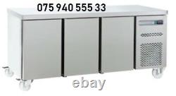 Commercial Stainless Steel Under Counter 3 Door Freezer 6ft Large & Free Deliver