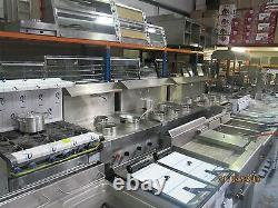 Comptoir En Acier Réfrigéré Commercial Triple 3 Portes Avec Dessus De Travail En Acier