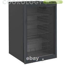 Cookology Cbc130bk Undercounter Drinks Fridge 54cm Glass Door Beverage Cooler