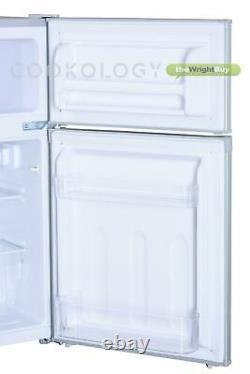 Cookology Silver Fridge Congélateur Ucff87sl 47cm Sous-compteur Autoportant 2 Porte