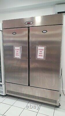 Foster Slimline Commercial Double Portes Congelateur De Restauration Acier Inoxydable