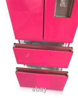 Français Style Slim Gamme D'ombre Rose 4 Porte Frigo Congélateur Couleur Sur Mesure