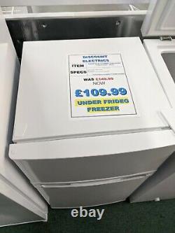 Freestanding Under Counter Fridge Freezer Compact Small Cuc50w20 2 Door White