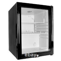 Frostbite Glass Door Mini Bar 35l Comptoir Réfrigérateur Adapté Pour Le Lait Pendant La Nuit