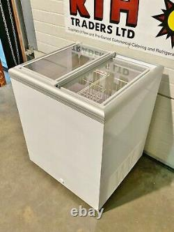 Gram / Elcold Chest Freezer Sliding Glass Lids Door Ice Cream Display £400v