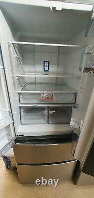 Hoover Hmn7182ixuk 70cm 4 Portes Réfrigérateur Congélateur A+ Classe Énergétique Frost Free 371 L