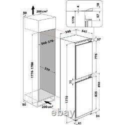 Hotpoint Hmcb505011uk Congelateur De Réfrigérateur Intégré 50/50 Avec Fixation De Porte Coulissante