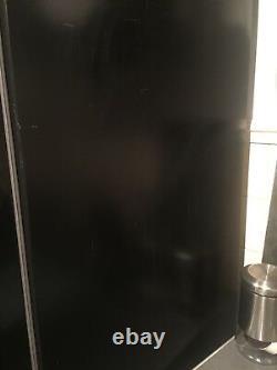 Hotpoint Quadrio Ffu4dgk A+ 4 Portes Sans Givre Réfrigérateur Congélateur En Noir Brillant