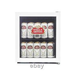 Husky Hu219 Stella Artois Table Top Drinks Cooler Mini Beer Fridge Glass Door