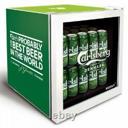 Husky Hu269 40l Carlsberg Beer Table Top Glass Door Mini Drinks Fridge