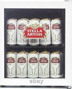 Husky Stella Artois Table Top Boissons Cooler Mini Bière Réfrigérateur Porte En Verre 48lhu219
