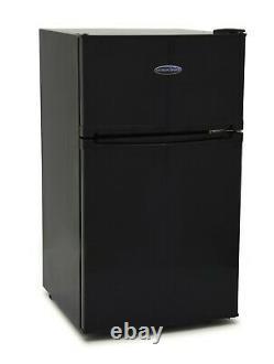 Iceking Ik2023k 48cm Autoportant 2 Porte Sous Le Comptoir Réfrigérateur Congélateur Noir