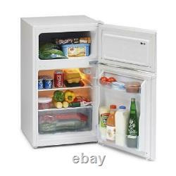 Iceking Ik2023w 50cm 2 Door Undercounter Fridge Freezer In White