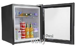 Iceq 49 Litre Glass Door Petit Réfrigérateur À Boissons Pour Vin, Bière, Bouteilles Noires