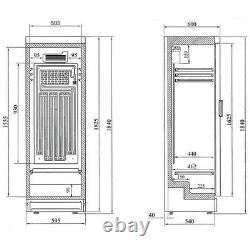 Interlevin Sc381 Single Glass Door Drinks Display Cooler Fridge Bottle Chiller