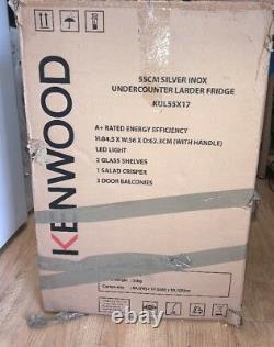 Kennwood Kul55x17 Undercounter Fridge A+ Portes Réversibles Inox / Acier Inoxydable