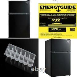 Mini Réfrigérateur À Deux Portes Avec Congélateur Arctic King 3.2 Cu Ft En Acier Noir Ou Inoxydable